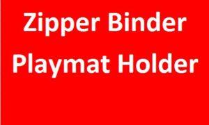Zipper Binder/Playmat Holder